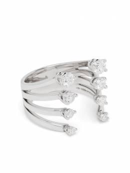 Delfina Delettrez кольцо Dots из белого золота с бриллиантами NTL1027A