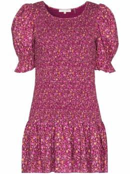 Loveshackfancy присборенное платье Luppa с цветочным принтом D1079763