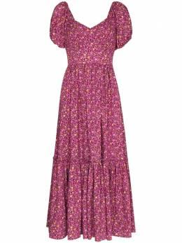 Loveshackfancy платье миди Angie с цветочным принтом LD344763