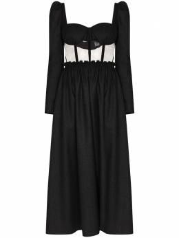 Rosie Assoulin платье миди с вырезом в форме сердца R204D29WW064WoolFlannel