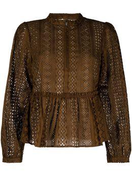 Baum Und Pferdgarten блузка с длинными рукавами и вышивкой 21434