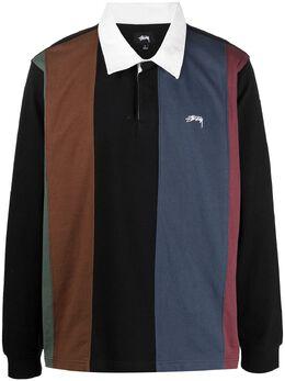 Stussy полосатая рубашка поло с длинными рукавами 1140228