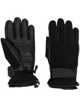 Moncler Grenoble перчатки с пряжками и вышитым логотипом F20983A6000053063