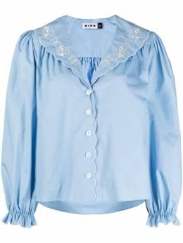 Rixo блузка с английской вышивкой 0300056412101029