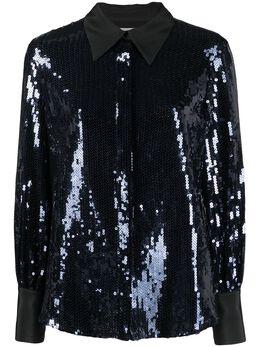 Victoria, Victoria Beckham рубашка с заостренным воротником и пайетками 2121WSH002548A