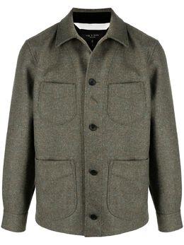 Rag&Bone куртка-рубашка с накладными карманами MBW20HA086ONML
