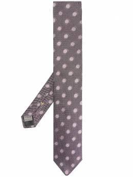 Canali жаккардовый галстук в горох 18HX03201