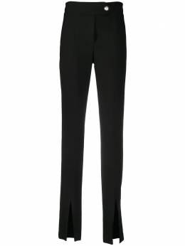 Veronica Beard строгие брюки с разрезами на манжетах 2010SU0256477