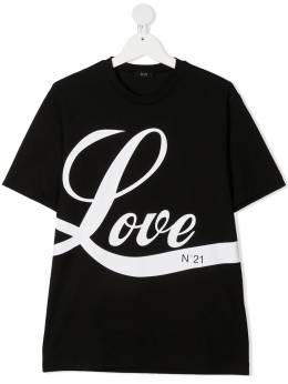 No.21 Kids футболка с принтом Love N21090N0003