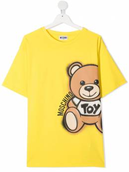 Moschino Kids футболка с принтом Teddy Bear HQM02XLBA18