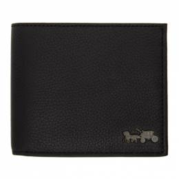 Coach 1941 Black Double Billfold Wallet 4907 BLK 4907 BLK
