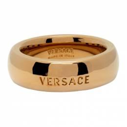 Versace Gold Engraved Logo Ring DG58464 DJMT