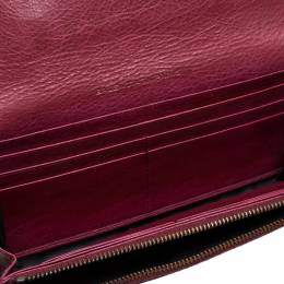 Balenciaga Bordeaux Leather City Wallet 370360