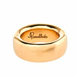 Pomellato Iconica 18K Rose Gold Large Band Ring Size 54 367313