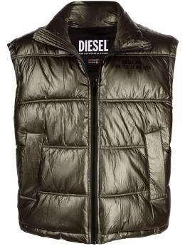 Diesel дутый жилет с эффектом металлик A015900ICAL