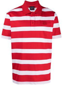 Paul & Shark полосатая рубашка поло с нашивкой-логотипом 21411222