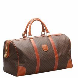 Celine Brown Macadam Canvas Travel Bag 365507