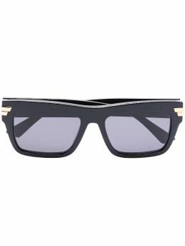 Bottega Veneta Eyewear солнцезащитные очки в трапециевидной оправе BV1058S