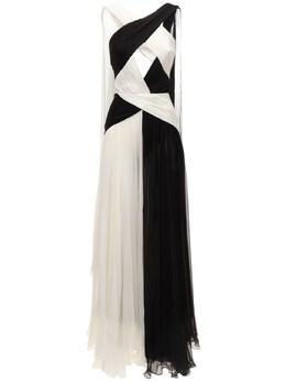 Длинное Платье Из Шёлкового Шифона Zuhair Murad 73ICCQ001-MTkwNjA00