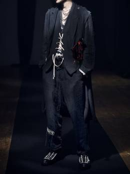 Жилет Из Шерстяного Габардина Yohji Yamamoto 73I01V011-Mg2