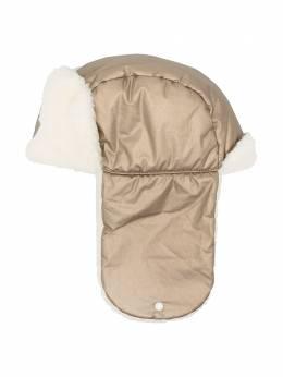 Moncler Enfant шапка-ушанка с подкладкой из шерпы F29543F6001054AJK