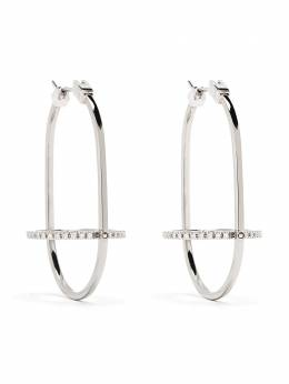 Delfina Delettrez серьги-кольца из белого золота с бриллиантами TOU5001A