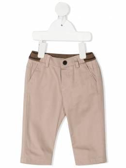 Fendi Kids брюки чинос с логотипом FF BMF179ADEH