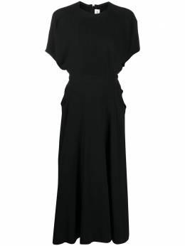 Victoria Beckham платье миди с драпировкой 1420WDR002150A