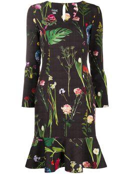 Boutique Moschino платье с оборками и цветочным фотопринтом A04201153