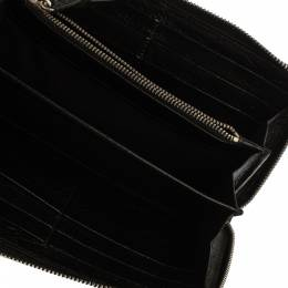 Balenciaga Black Leather City Zip Around Wallet 370791