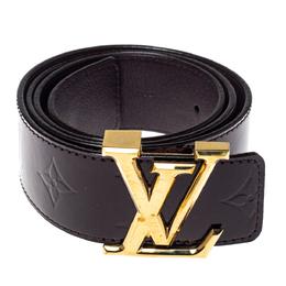 Louis Vuitton Amarante Monogram Vernis Initials Belt 85CM 371308
