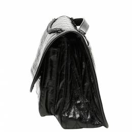 Miu Miu Black Calfskin Leather Quilted Shine Bag 369684