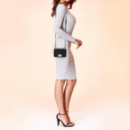 Chanel Black Quilted Velvet Mini Boy Flap Bag 368866