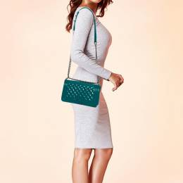 Chanel Turquoise Patent Leather Medium Plexiglas Boy Bag 369249