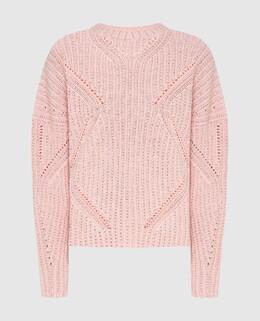 Розовый свитер с кристаллами Ermanno Scervino 2300006498824