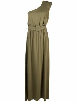 Federica Tosi длинное платье на одно плечо с поясом FTE21AB0970JE0081