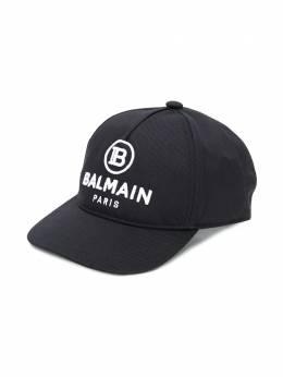 Balmain Kids кепка с вышитым логотипом 6N0557NX530