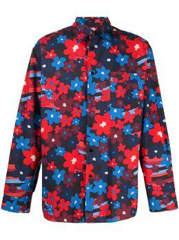 Marni рубашка с цветочным принтом CUMU0201A0S53671