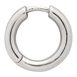 Maria Black Silver Polo Huggie Single Earring 100760AG