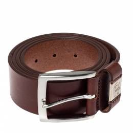 Aigner Brown Leather Etienne Casual Belt 110CM 371301
