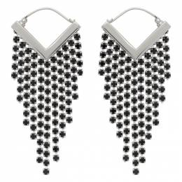Isabel Marant Silver and Black Freak Out Earrings 21PBL0906-21P013B