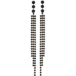 Isabel Marant Silver and Black New Nile Earrings 21PBL0833-21P013B