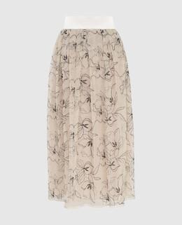 Светло-бежевая юбка Peserico 2300006500930
