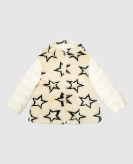 Детский светло-бежевый пуховик Moncler Enfant 2300006500107