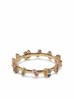 Suzanne Kalan кольцо Rainbow Firework из желтого золота с сапфирами BAR527YG