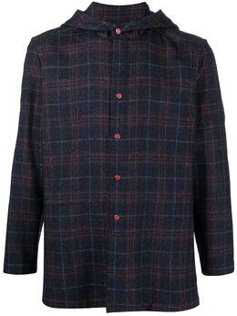 Kiton клетчатая рубашка с капюшоном UMCURPK01T5118000