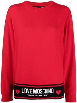 Love Moschino джемпер вязки интарсия с логотипом WS54G10X1370
