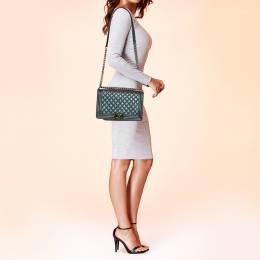 Chanel Metallic Leather Iridescent New Medium Boy Flap Bag 371491