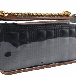 Burberry Black Quilted Lambskin Leather Lola with Transparent Cover Mini Bag 370673