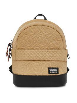 Burberry Kids стеганый рюкзак с монограммой 8037125